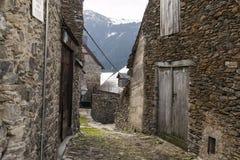 Rues de village de montagne Photos libres de droits