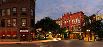 Rues de ville d'Oneonta NY, scène du centre photo stock