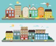 Rues de ville dans une conception plate Photo libre de droits