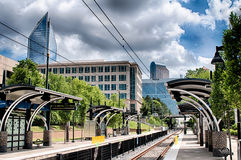 Rues de ville de Charlotte la Caroline du Nord Image stock