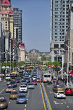 Rues de ville de Harbin Chine photo stock
