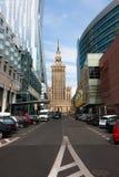 Rues de ville de Varsovie Image stock