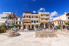 Rues de ville de Zante sur l'île de Zakynthos Photographie stock libre de droits