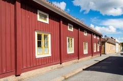 Rues de ville de Nora, Suède image libre de droits