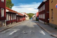 Rues de ville de Nora, Suède photos libres de droits