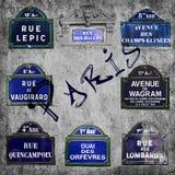 Rues des signes de Paris Photographie stock libre de droits