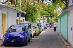 Rues du mâle, capitale des Maldives Images stock