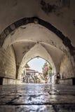 Rues et bâtiments antiques dans la vieille ville de Jérusalem photos libres de droits