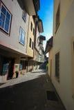 Rues et bâtiments d'Aarau, Suisse Images libres de droits
