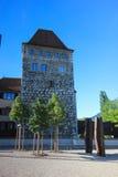 Rues et bâtiments d'Aarau, Suisse Photographie stock libre de droits