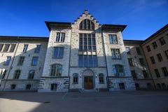 Rues et bâtiments d'Aarau, Suisse Images stock