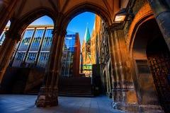 Rues et bâtiments de vieux Brême images stock