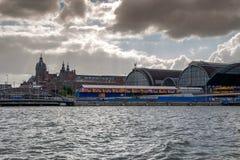 Rues et canaux d'Amsterdam image libre de droits