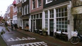 Rues et canaux d'Amsterdam banque de vidéos