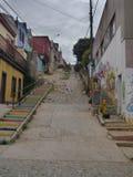 Rues et maisons colorées à valparaiso Photographie stock