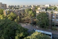 Rues et maisons dans le secteur de ville de Sheva de bière Photos libres de droits