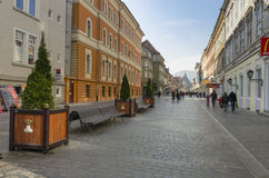 Rues médiévales de Brasov Image stock