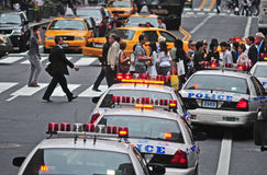 Rues occupées de New York Image libre de droits