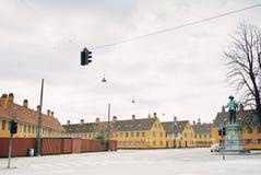 Rues résidentielles à Copenhague Danemark photo stock