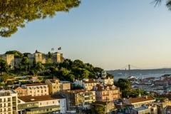 Rues romantiques de Lisbonne Image stock