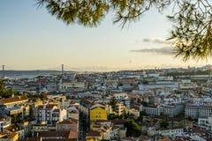 Rues romantiques de Lisbonne Photographie stock libre de droits