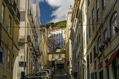Rues romantiques de Lisbonne Photo libre de droits