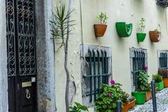 Rues romantiques de Lisbonne Image libre de droits