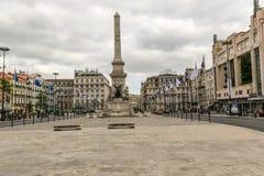 Rues romantiques de Lisbonne Images stock