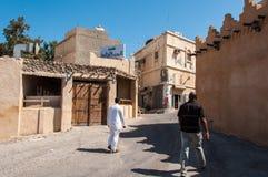 Rues tranquilles d'île de Tarout, Arabie Saoudite Images libres de droits