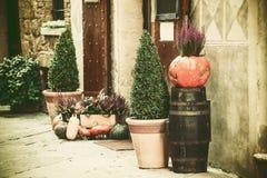 Rues tranquilles de vintage de ville antique Photo libre de droits