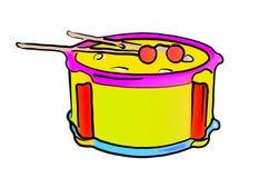 Rufe o instrumento musical das varas para as crianças isoladas no fundo branco figura Fotografia de Stock Royalty Free