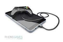 rufen Sie Gamecontroller am intelligenten Telefon, Illustration 3d an Stockbilder
