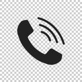 Rufen Sie Ikonenvektor, Kontakt, Beistandsservicezeichen auf lokalisiertem BAC an Lizenzfreies Stockfoto