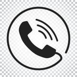 Rufen Sie Ikonenvektor, Kontakt, Beistandsservicezeichen auf lokalisiertem BAC an Stockbilder