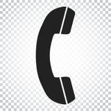 Rufen Sie Ikonenvektor, Kontakt, Beistandsservicezeichen auf lokalisiertem BAC an Lizenzfreie Stockfotos