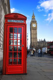 Rufen Sie Kasten und Big Ben an Stockfoto