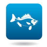 Ruff fish icon, simple style Stock Photo