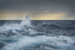 Ruff sea. Heavy seas in deep sea Royalty Free Stock Photography