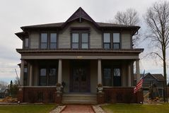 Ruffin Drew Fletch House. This is an early Spring picture of the Ruffin Drew Fletch House in Streator, Illinois.  This house built in 1890 is an example of the Royalty Free Stock Photography