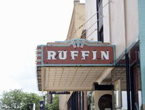 Ruffin Theater, Covington, Tennessee stock fotografie
