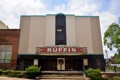 Ruffin Theater en Live Play Center, Covington, Tennessee royalty-vrije stock foto