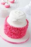 Ruffle style mousse cake Royalty Free Stock Photography