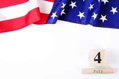 Background flag of the United States of America for national federal holiday celebration of Independence day. USA symbolics. royalty free stock photos