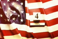 Background flag of the United States of America for national federal holiday celebration of Independence day. USA symbolics. royalty free stock images