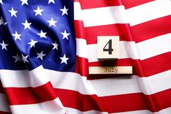 Background flag of the United States of America for national federal holiday celebration of Independence day. USA symbolics. Stock Images