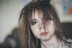 Ruffled girl in the morning. Stock Image
