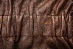Ruffled leather background Stock Photography