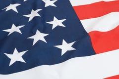 Ruffled national flags - United States Stock Image
