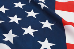 Ruffled national flags - USA Stock Images