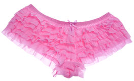 Ruffled Pink Panties Stock Photo